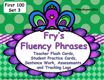 Fry's Fluency Phrases and Sentence Practice Set 3