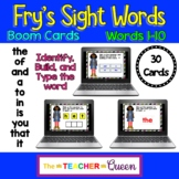 DIGITAL Fry's High Frequency Words 1-10 Practice BOOM CARDS