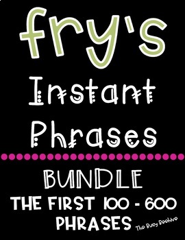 Fry's Fluency Phrases - Growing Bundle