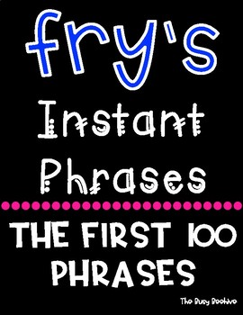 Fry's Fluency Phrases - First 100