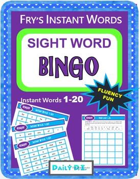 Fry's Instant Words 1-20 - Sight Word BINGO