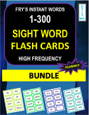 Fry's Instant Words 1-300 - Sight Word Flashcards BUNDLE