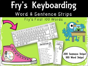 Fry's Keyboarding - Sight Words & Sentence Strips - Fry's first 100 words