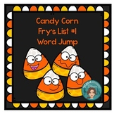 Fry's List 1- candy corn (Fall) - sight word jump
