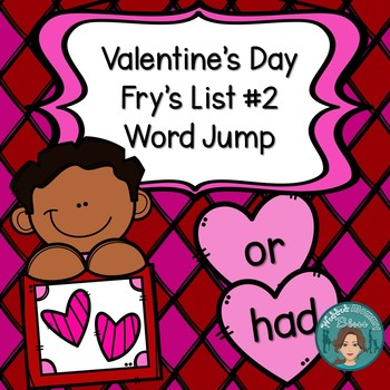 Fry's List 2 - Valentine's Day Word Jump