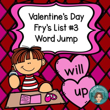 Fry's List 3 - Valentine's Day Word Jump