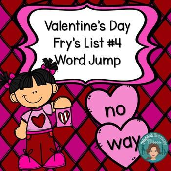Fry's List 4 - Valentine's Day Word Jump