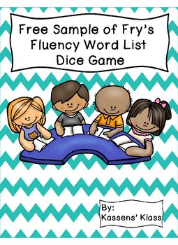 Fry's List Dice Game- Free Sample