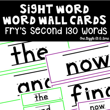 Fry's Most Common Word List & Assessments (Second 130 Words)
