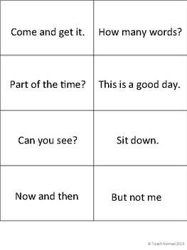 Fry's Phrases Flash Cards - 1st 100