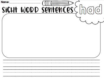 Fry's Pocket Chart Sentences- Part 3