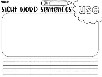 Fry's Pocket Chart Sentences- Part 5