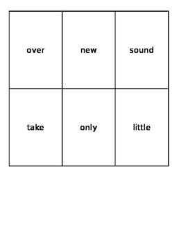 Fry's Second 100 Sight Word Cards Set 1
