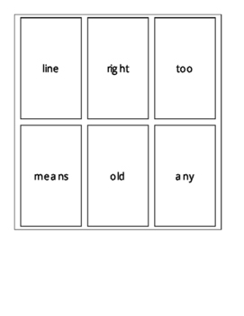 Fry's Second 100 Sight Word Cards Set 2