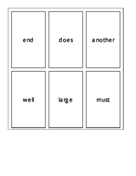 Fry's Second 100 Sight Word Cards Set 3