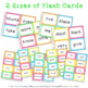 Sight Word Flash Cards and Bingo Set 2 - Colorful Chevron