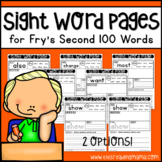Fry's Second 100 Sight Word Pages