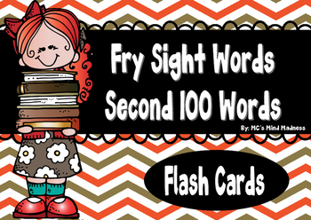 Fry's Second 100 Sight Words Flash Cards
