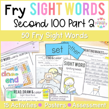 Fry's Second 100 Words Sight Words Curriculum Part 2