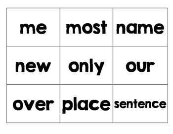 Fry's Second 100 Words in ABC order