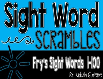 Fry's Sight Word (1-100) Scrambles