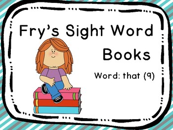 Fry's Sight Word Book: that (9)