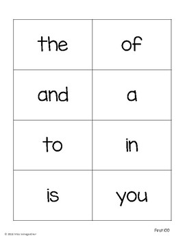 Fry's Sight Word Cards 1-1,000