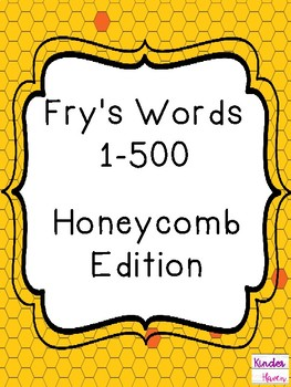 Fry's Sight Word Cards (1-500) Honeycomb Edition Bumblebee