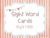 Fry's Sight Word Cards