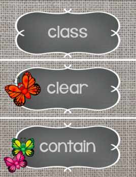 Fry's Sight Word Cards BUNDLE - Butterfly Themed Word Wall