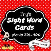 Fry's Sight Word Cards (words 301-400) {Disney Themed & Editable} Set #4