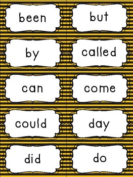 Fry's Sight Word Flash Cards (1-500) Busy Bee Edition