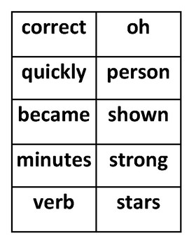 Fry's Sight Word Flash Cards #401-500