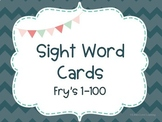 Fry's Sight Word Flashcards 1-100