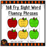 Fry's Sight Word Fluency Phrases - 168 phrases on apple cards