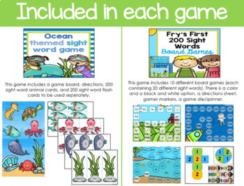 Fry's First 200 Sight Words Game Bundle