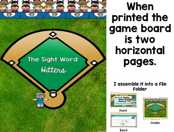 Fry's Sight Word Baseball Game (Words 200-400)