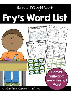 Fry's Sight Word List- The First Hundred
