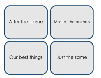 Fry's Sight Word Phrases - Second 100