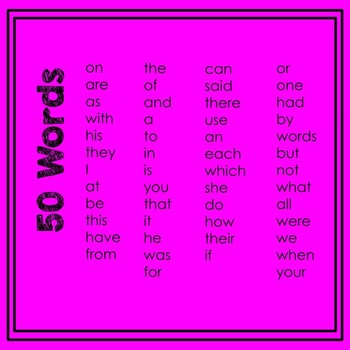 Fry's 1st 50 Sight Word Play-Doh Mats