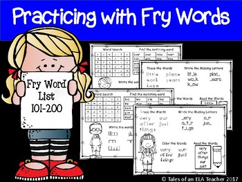 Fry's Sight Word Practice (Words 101-200)
