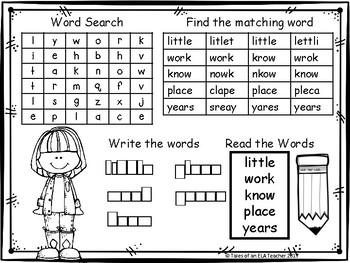 Fry's Sight Word Practice (Words 101-200)