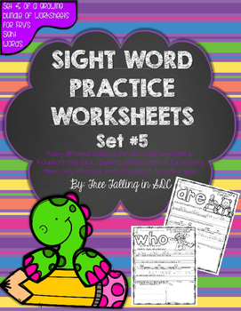 Fry's Sight Word Practice Worksheets-SET 5