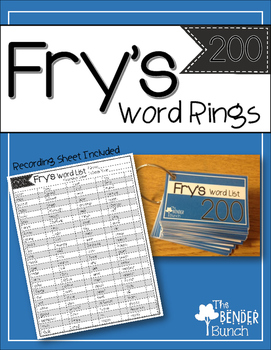 Fry's Sight Word Rings {101-200}