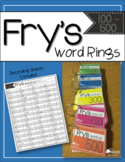 Fry's Sight Word Rings BUNDLE {First 500}