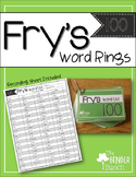 Fry's Sight Word Rings {First 100}