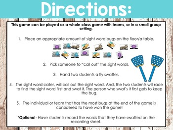 Fry's Sight Word Swat Game (Words 200 - 400)