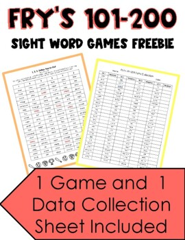 Fry's Sight Words 100-200 Baseball Game