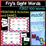 Fry's Sight Words Bingo Games and Activities First 100 words