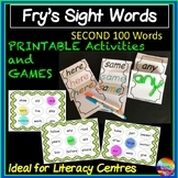 Fry's Sight Words Activities and Bingo Games SECOND LIST 100 Words